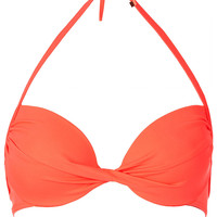 Watermelon Plunge Bikini Top - New In This Week - New In - Topshop