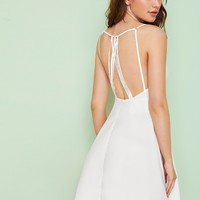 Backless Cami Skater Dress