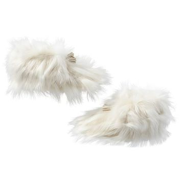 Winter Fox Ankle Tassel Faux-Fur Booties