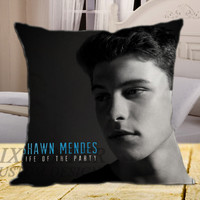 Shawn Mendes Life Of The Party on square pillow cover 16inch 18inch 20inch