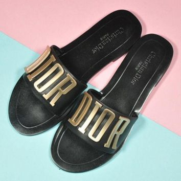 DIOR Woman Casual Sandals Slipper Shoes