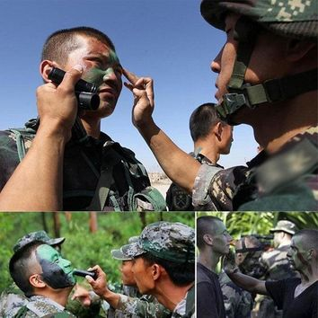 Military Camouflage Face Body Paint Oil 3 Color Set Suitable for Military Tactical Paintball Hunting Real CS Games Painting Tool