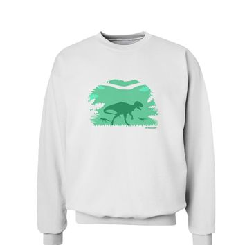 Dinosaur Silhouettes - Jungle Sweatshirt by TooLoud