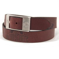 Ohio State Buckeyes NCAA Men's Embossed Leather Belt (Size 42)