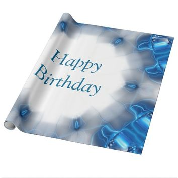 Blue Diamonds Wrapping Paper