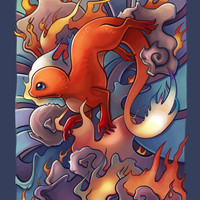 Fire Lizard Art Print by TsaoShin