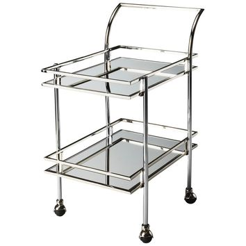 Gatsby Bar Cart | Nickel