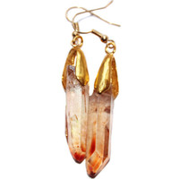 Quartz Gold Earrings