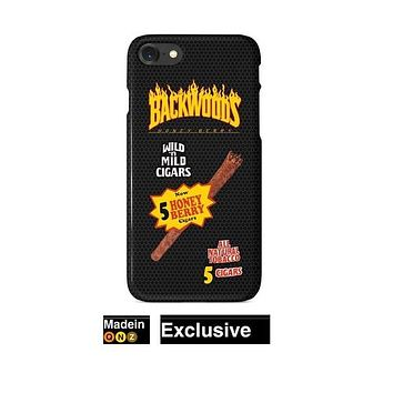 Black Backwoods Cigar Thrasher Flames iPhone Case