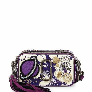Marc Jacobs Tapestry Snapshot Crossbody Bag, Purple