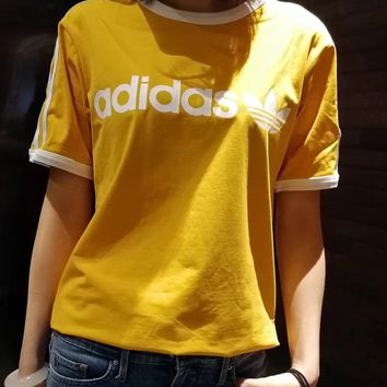 adidas Originals Yellow Three Stripe T-Shirt