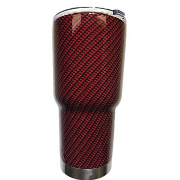 Red Carbon Fiber Tumbler Warehouse Tumbler