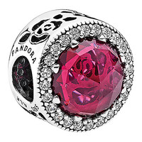 Belle Enchanted Rose Sparkling Charm by PANDORA | Disney Store