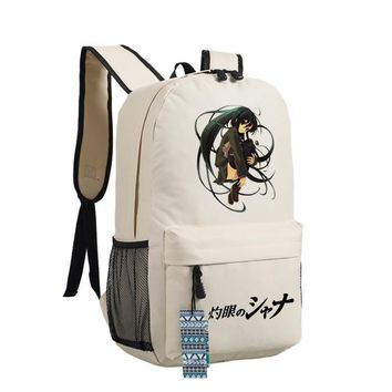 Men Women Japan Anime Shana of the Blazing Eyes Shakugan no Shana Red Hair Girl Backpack Bag School Shoulder Travel Book Bag