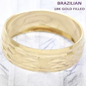 Gold Layered Men and Women Wedding Ring, by Folks Jewelry