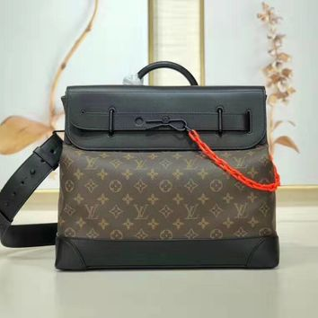 Louis Vuitton LV Women Men Leather Shoulder Bag Crossbody Satchel Handbag