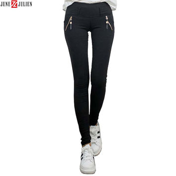 Hot Sale Women Black Skinny Jeans Cheap Autumn Winter Plus Velvet Slim Warm Pencil Jeans Woman Femme Ladies Stretch Pants
