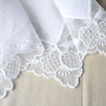1950s Lace Bridal Handkerchief Something Old Wedding Gift