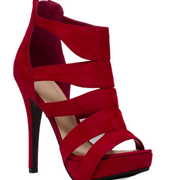 Silas Heels in Red