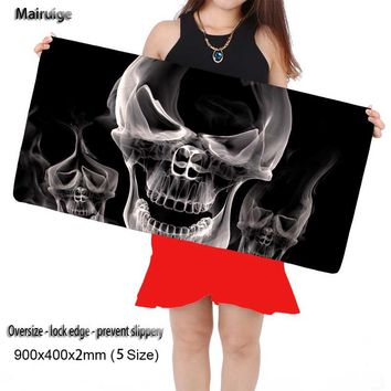 Skull Gaming Mouse Pad Computer Notebook Rubber Mice Mat Edge Speed Up Mousepad CS GO Gamer To Keyboard
