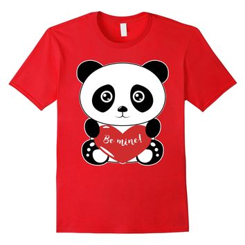 Cute Panda Be Mine Valentines Day T-Shirt Valentine Boy Girl