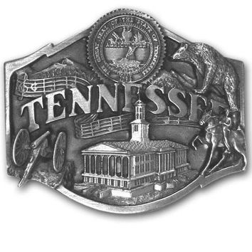 Sports Accessories - Tennessee Antiqued Belt Buckle