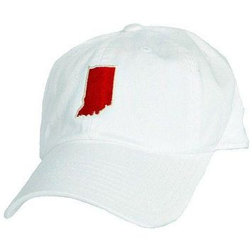 Indiana Bloomington Gameday Hat in White by State Traditions