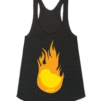 Hot Chick-Female Athletic Tri Black Tank