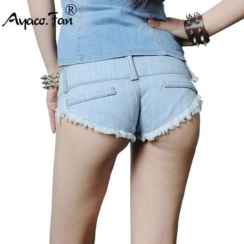 Super Hot Shorts Women Jeans New Arrival Sexy Cut Off Low Waist Denim Short Pants Mini Hot White Blue Short Jeans Women Clothing