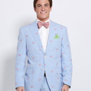 Men's Blazers: Horseshoe Gingham Sport Coat for Kentucky Derby - Vineyard Vines