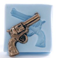 Mold western gun- silicone mold - Wild west pistol mold - Soap, wax, polymer clay, pmc, plaster, paper, clays mold