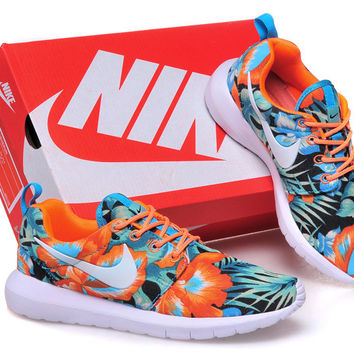 Nike Roshe Run (Palm Tree Leaves Print Orange/Mint)