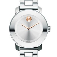 Women's Movado 'Bold' Round Bracelet Watch, 36mm