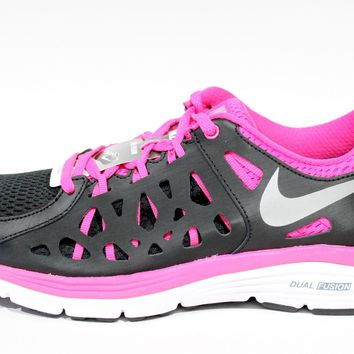Nike Women's Dual Fusion Run Black/Pink Running Shoes 599564 006