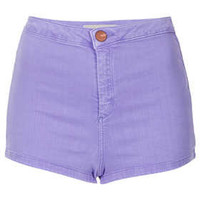 MOTO Lavender Denim Hotpants - Denim Shorts - Denim  - Clothing
