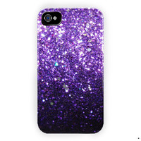 Ombre Fade Pattern Glitter Not Real Glitter  For iPhone 4 / 4S Case