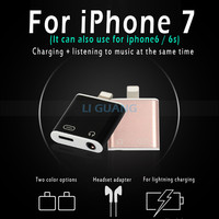 Audio adapter with charging two in one for iPhone7 headset adapter For Apple 7plus adapter for charging and audio free shipping