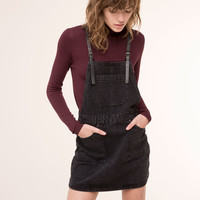 BLACK DENIM DUNGAREE SKIRT - NEW PRODUCTS - NEW PRODUCTS - PULL&BEAR Slovenia