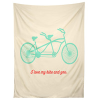 Allyson Johnson My Bike And You Tapestry