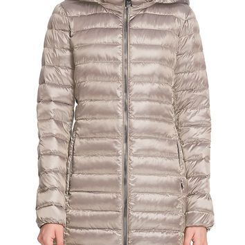 Women's Gold Packable Down Jacket