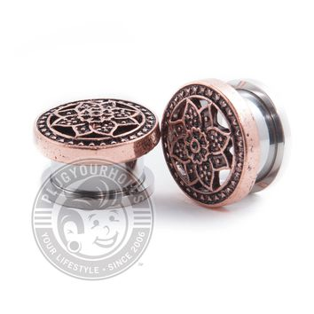 Bronze Lotus Threaded Steel Plugs
