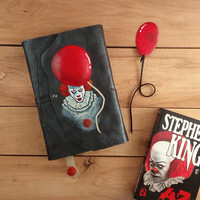 Pennywise set for book lovers / Stephen King / IT inspired set of book cover and bookmark / Horror / Gifts for bookworm / Constant Reader