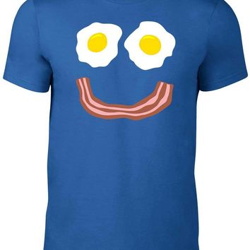 Bacon and Eggs Smile T-Shirt - Funny Men's Tee