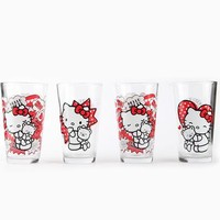 Hello Kitty 40th Anniversary Glasses Set of 4: Hug