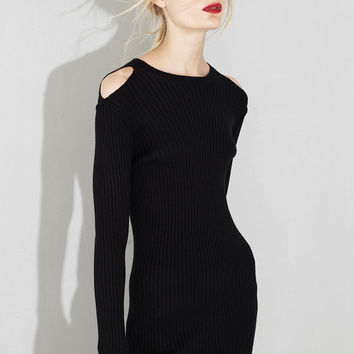 Off Shoulder Midi Sweater Dress