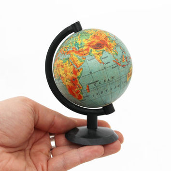 Vintage World Globe 80s, diameter 3 inch