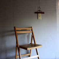 mid-century wooden folding chair