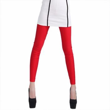 Fire Engine Red Leggings