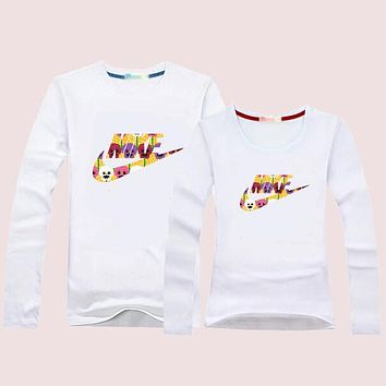 NIKE Women Men Lover Casual Long Sleeve Top Sweater Pullover