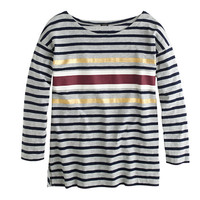 J.Crew Womens Foil Stripe